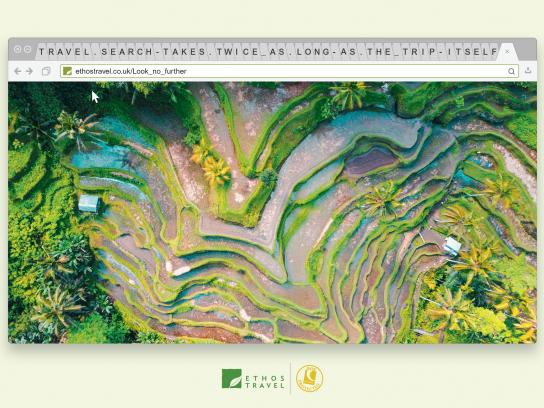 Ethos Travel Print Ad - Rice Field
