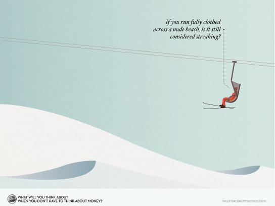 New York Lottery Print Ad -  Ski
