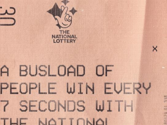 The National lottery UK Print Ad - Bus