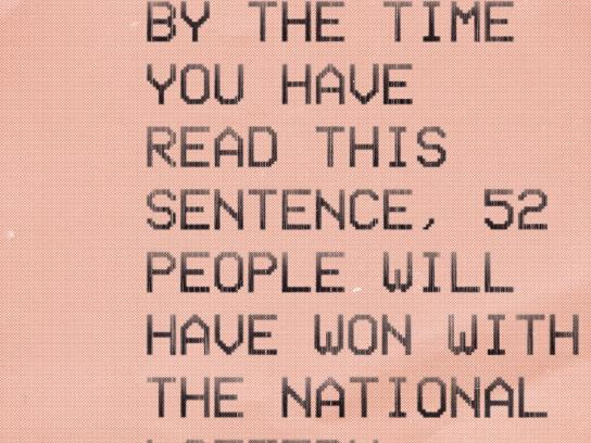 The National lottery UK Print Ad - Sentence