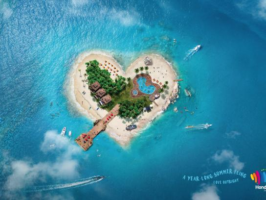 Instituto Hondureño de Turismo Print Ad - Love outright - Roatán