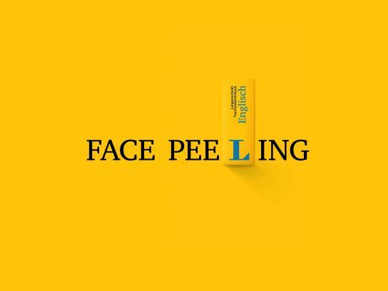 Langenscheidt Outdoor Ad - Face peeling