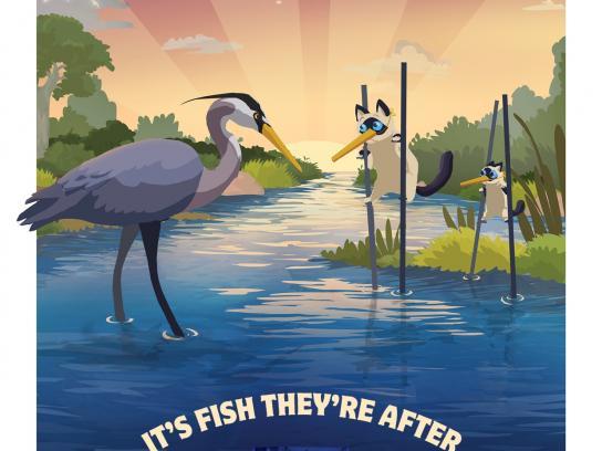 Lucky Pet Print Ad -  Heron