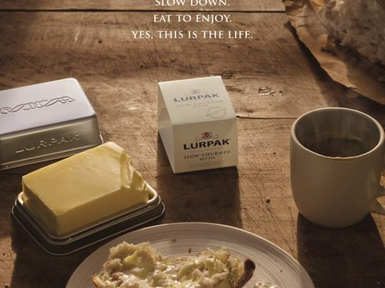 Lurpak Print Ad -  Today we will sit