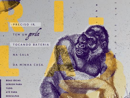 Lusos Print Ad - Gorilla