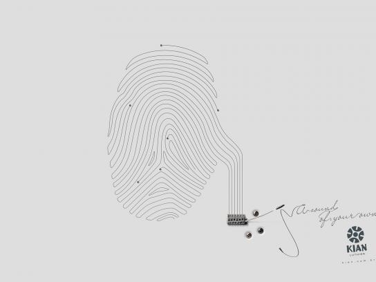 Kian Luthier Print Ad -  Fingerprint, 2