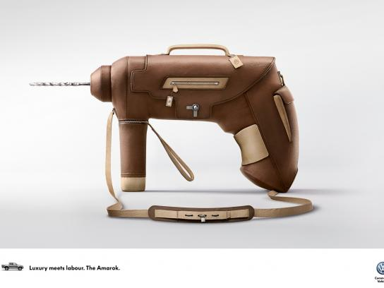Volkswagen Print Ad -  Luxury meets Labour, 2