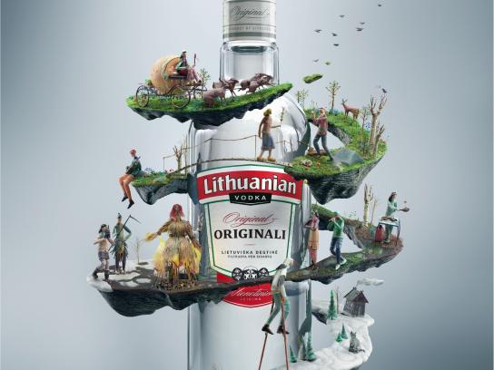 Lithuanian Vodka Print Ad - Spring tale