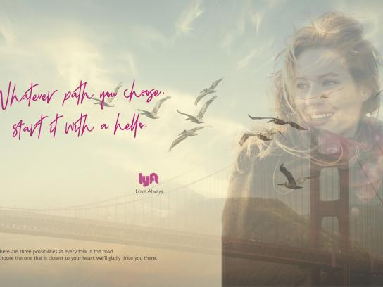 Lyft Print Ad - Love always, 1