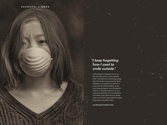 Shanghai x Smog Print Ad - Smile