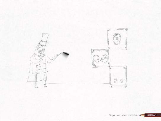 Nataraj Pencils Print Ad -  Magician