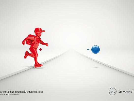Mercedes Print Ad -  Pre-safe brake, 1