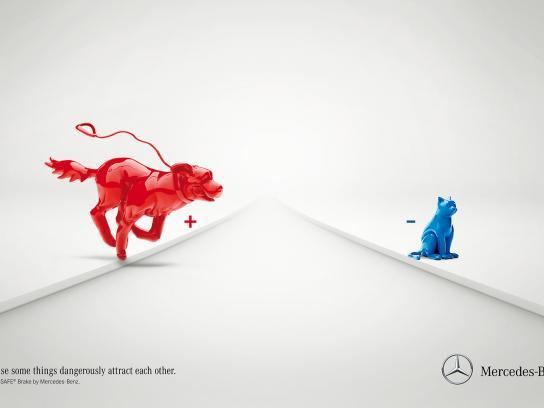 Mercedes Print Ad -  Pre-safe brake, 2