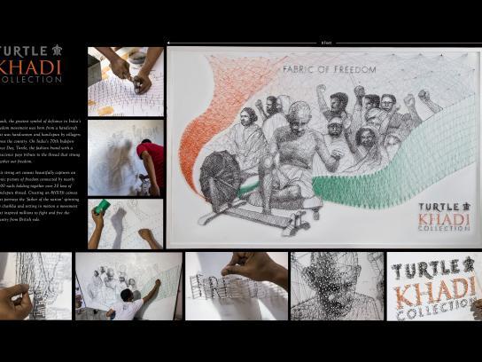 Turtle Khadi Ambient Ad - Mahatma Gandhi
