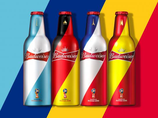 Budweiser Design Ad - 2018 FIFA Packaging Design