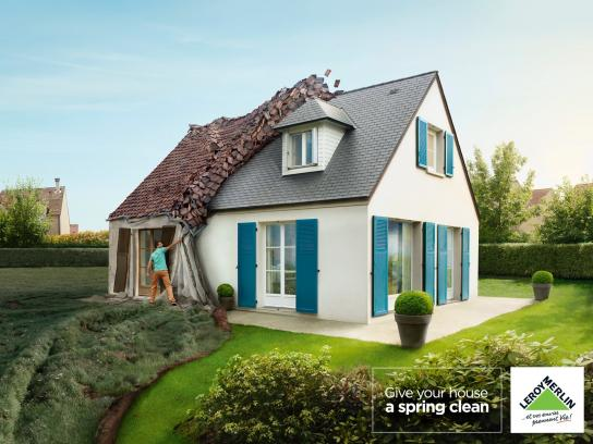 Leroy Merlin Print Ad -  Spring Cleaning