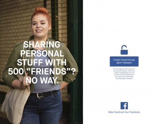 Facebook Print Ad - Closed group
