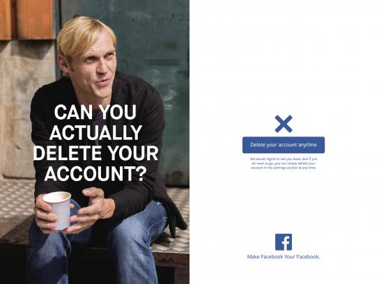 Facebook Print Ad - Delete account