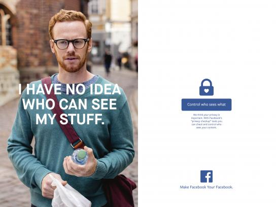 Facebook Print Ad - Who sees what