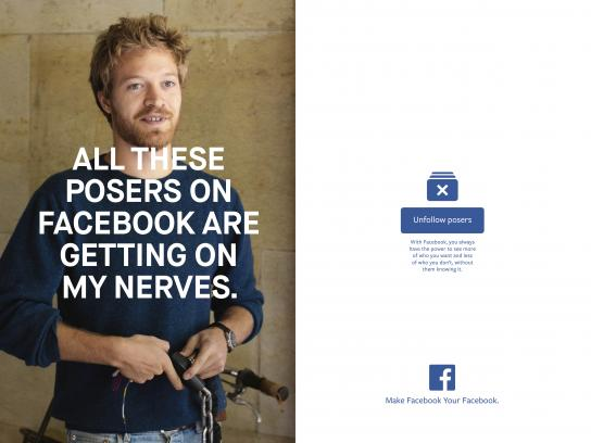 Facebook Print Ad - Posers