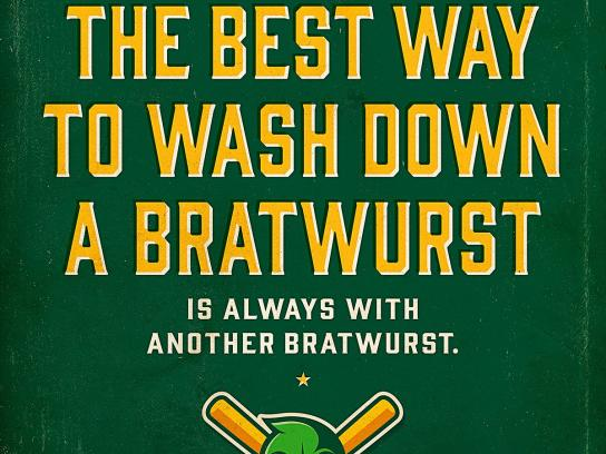 Madison Mallards Outdoor Ad -  Bratwurst