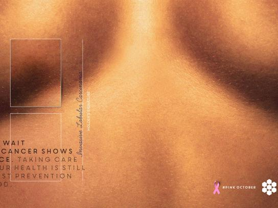 Shopping Vale do Aço Print Ad - Don't wait until cancer shows its face, 1