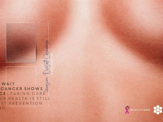 Shopping Vale do Aço Print Ad - Don't wait until cancer shows its face, 2