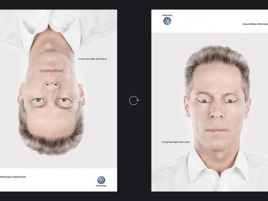 Volkswagen Print Ad - Wrong faces, 3
