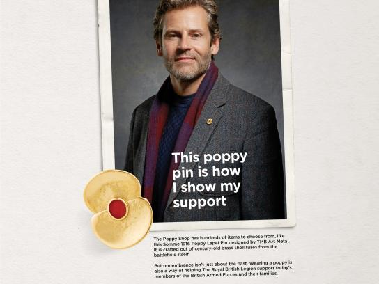 The Royal British Legion Print Ad - This Poppy Shop is how I show my support - man