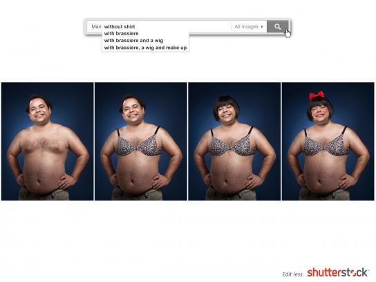 Shutterstock Print Ad -  Man
