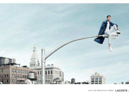 Lacoste Print Ad -  Life is a beautiful sport, Man lamp