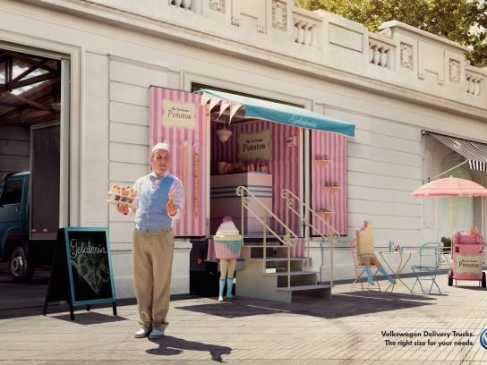 Volkswagen Print Ad -  Gelateria