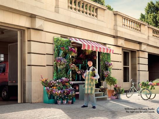 Volkswagen Print Ad -  Flower shop