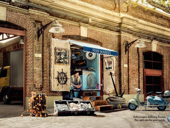 Volkswagen Print Ad -  Fish Market