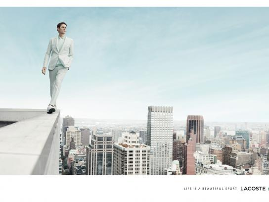 Lacoste Print Ad -  Life is a beautiful sport, Man wall