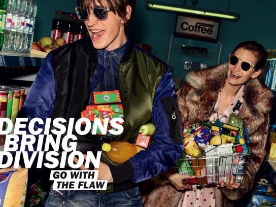 Diesel Print Ad - Go With The Flaw - Shopping