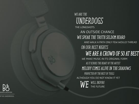 Bang and Olufsen Print Ad - The underdogs, 4