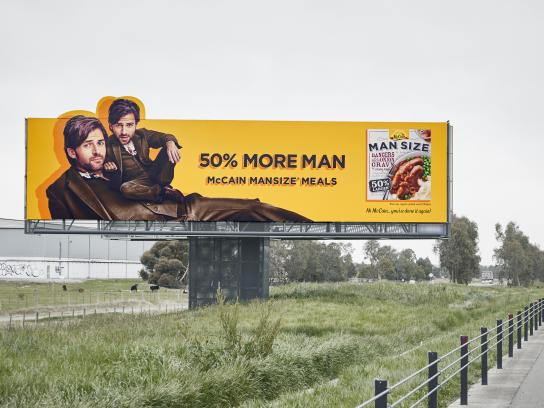 McCain Foods Outdoor Ad - 50% More Man - Suit