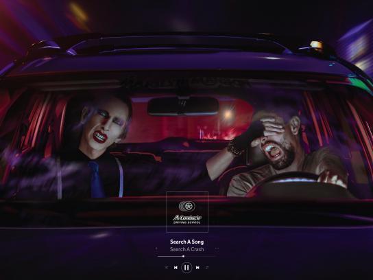 A Conducir Print Ad - Dangerous Music - Manson