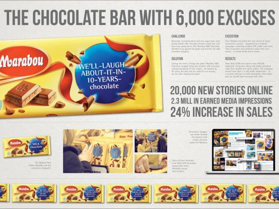 Marabou Ambient Ad -  The chocolate bar with 6,000 excuses