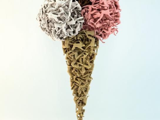 Misereor Print Ad -  Ice cream