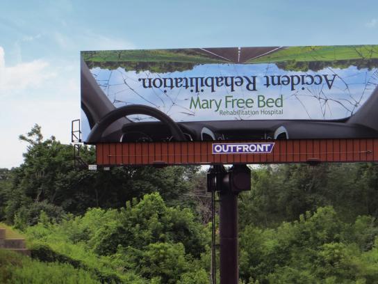 Mary Free Bed Rehabilitation Hospital Outdoor Ad -  Accident rehabilitation