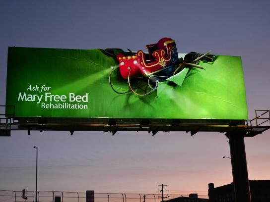 Mary Free Bed Rehabilitation Hospital Outdoor Ad - Mary Free Bed Sleigh