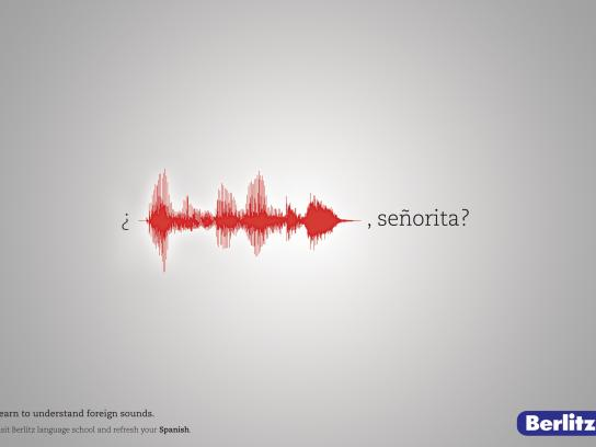 Berlitz Print Ad -  Foreign Sounds, 1
