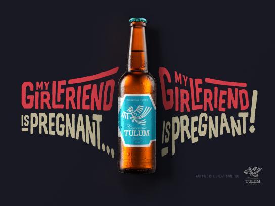 Cerveceria Tulum Print Ad - Pregnant