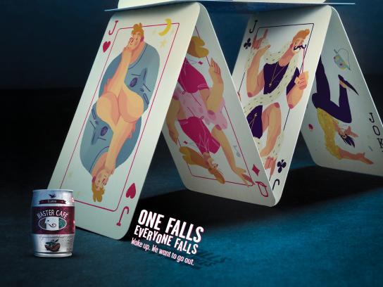 Master Café Print Ad - Cards