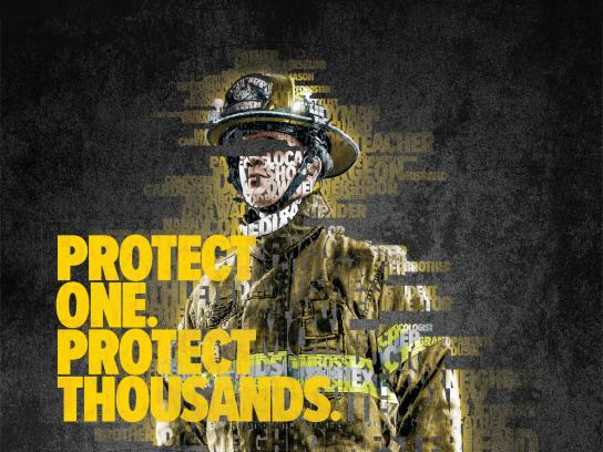 First Responders' Foundations Print Ad - The Protect Effect, 1