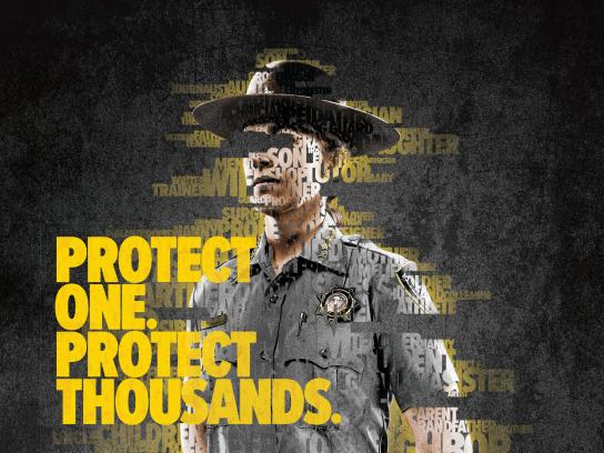 First Responders' Foundations Print Ad - The Protect Effect, 3