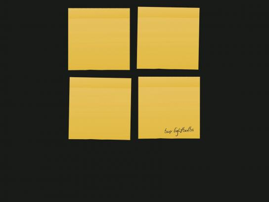 Post-it Brand Print Ad -  Buy lightbulbs