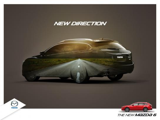 Mazda Print Ad -  New Direction
